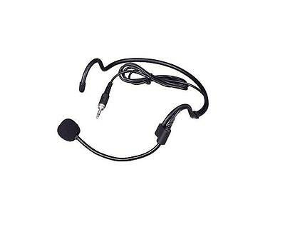 Headset headworn microphone for Wireless microphone with 3.5mm male screw jack