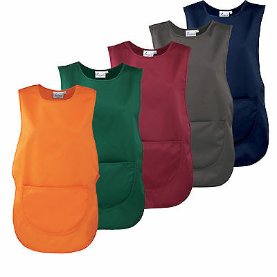 Tabard Tabbard Apron With Pockets Work Wear Overall Catering Cleaning 18 Colours