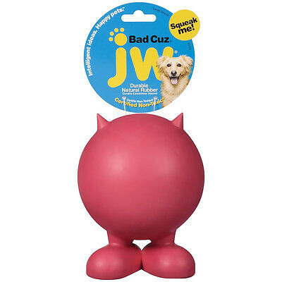 JW Pet Bad Cuz Squeaky Dog Toy Rubber Ball Large Various Colours