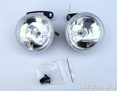 "UNIVERSAL 12v CLEAR ROUND FOG SPOT LIGHTS LAMPS LIGHT 90MM 3.54"" FOR TOYOTA NEW"