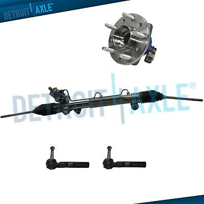Power Steering Rack and Pinion + 2 Outer Tie Rod +1  Wheel Hub Bearing Assembly