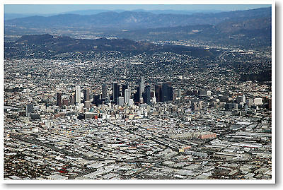 Los Angeles - Downtown L.A. Skyline California Aerial Photo - NEW POSTER