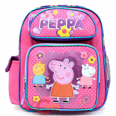 """Peppa Pig Small 12"""" inches Backpack BRAND NEW for Girls - Licensed Product"""