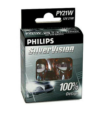 Philips Silver Vision Chrom Blinkerbirnen Set ! Set 2 Birnen BAU15s - Aktion !