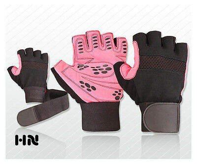 New Weight Lifting Padded Gloves Fitness Training Body Building Gym Wrist Straps