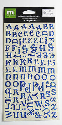 Making Memories diva shimmer alpha glitter letters stickers  93 stickers - Blue