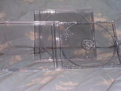 Standard CD DVD Jewel Case with Clear Removable Tray 4-pack NEW NICE QUALITY