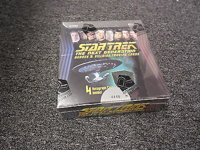 Star Trek The Next Generation Heroes & Villains Sealed BOX w/ P1 & 4 Autos - TNG
