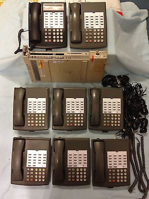 Avaya AT&T Lucent Partner ACS R6 Phone System (7) 18 Phones (1)18D Black Phones