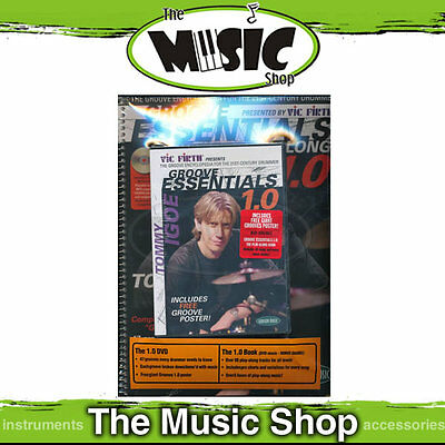New Tommy Igoe's Groove Essentials 1.0 Play Along Book, CD & DVD Pack for Drums