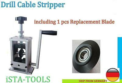 Copper Wire Stripper Drill Cable Stripping plus 1pcs Extra Blade -ISTA TOOLS NEW