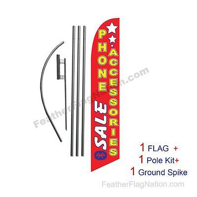 Sale Phone Accessories Feather Banner Swooper Flag Kit with pole+spike