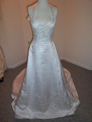 Large (10-12) Emerald Bridal Ivory Wedding Dress