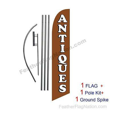 Antiques Feather Banner Swooper Flag Kit with pole+spike