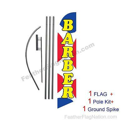 Barber RWB Feather Banner Swooper Flag Kit with pole+spike