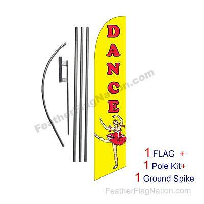 Dance Feather Banner Swooper Flag Kit with pole+spike