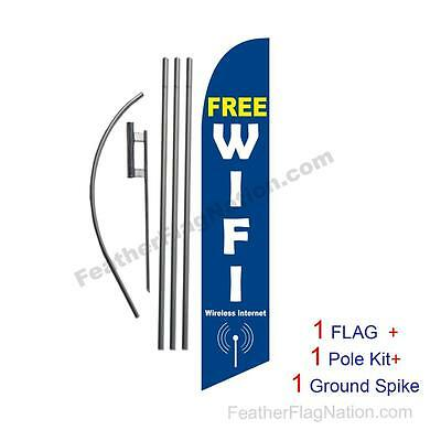 Free Wifi Feather Banner Swooper Flag Kit with pole+spike