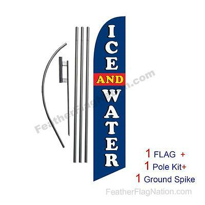 Ice and Water Feather Banner Swooper Flag Kit with pole+spike