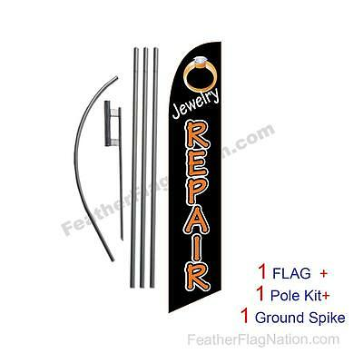 Jewelry Repair Feather Banner Swooper Flag Kit with pole+spike