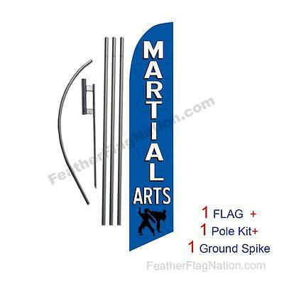 Martial Arts 15' Feather Banner Swooper Flag Kit with pole+spike