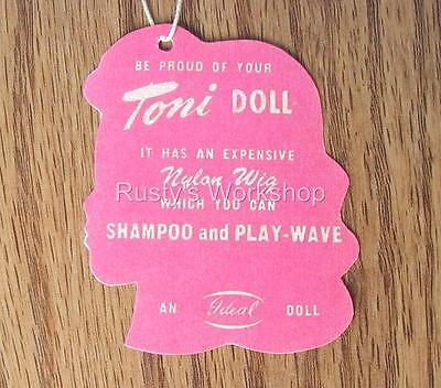 1950's Ideal TONI doll WRIST hang TAG  (Reproduction)