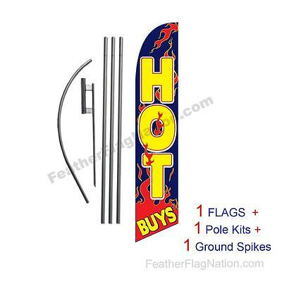 Hot Buys 15' Feather Banner Swooper Flag Kit with pole+spike