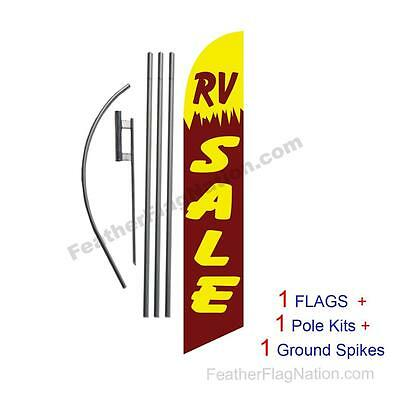 RV Sale 15' Feather Banner Swooper Flag Kit with pole+spike