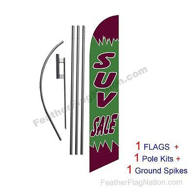 SUV Sale 15' Feather Banner Swooper Flag Kit with pole+spike