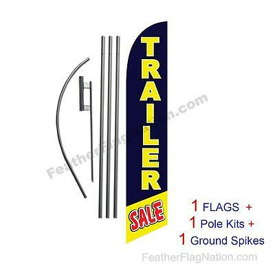 Trailer Sale 15' Feather Banner Swooper Flag Kit with pole+spike
