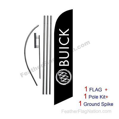 Custom BUICK 15' Feather Banner Swooper Flag Kit with pole+spike