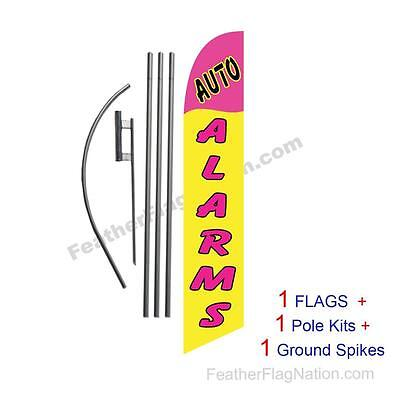 Auto Alarms 15' Feather Banner Swooper Flag Kit with pole+spike