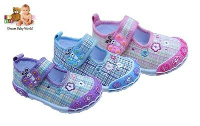 Lovely girls canvas shoes size 3 - 7 UK - in 3 lovely colours NEW!!