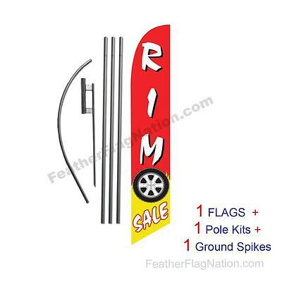 Rim Sale 15' Feather Banner Swooper Flag Kit with pole+spike