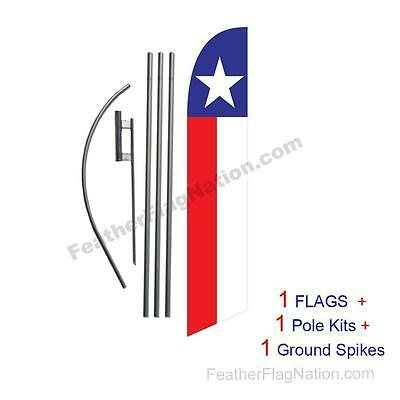 Texas 15' Feather Banner Swooper Flag Kit with pole+spike