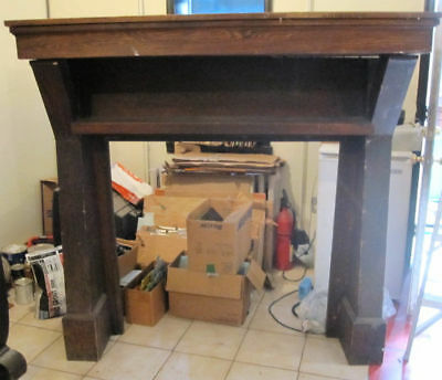 ~ Huge Antique Oak Fireplace Mantel ~ Tudor Style ~ Architectural Salvage ~