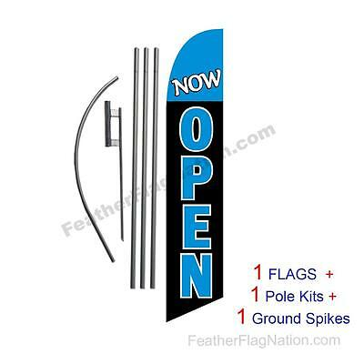 Now Open 15' Feather Banner Swooper Flag Kit with pole+spike