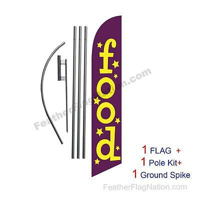 Food 15ft Feather Banner Swooper Flag Kit with pole+spike