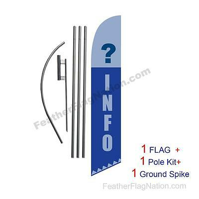 Information Info ? 15ft Feather Banner Swooper Flag Kit with pole+spike