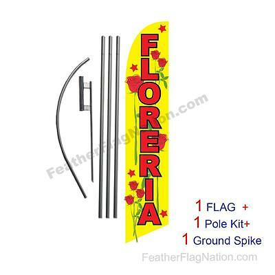 Floreria 15ft Feather Banner Swooper Flag Kit with pole+spike