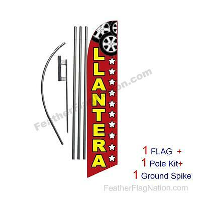 Llantera 15ft Feather Banner Swooper Flag Kit with pole+spike