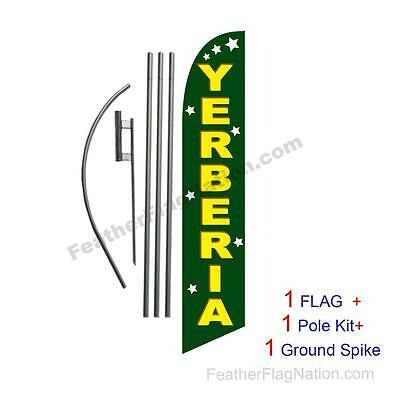 Yerberia 15ft Feather Banner Swooper Flag Kit with pole+spike