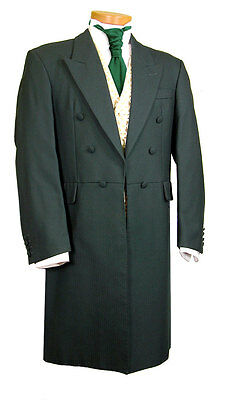 Men's Mans Frock Coat Green Wedding Fancy Dress Prom Stunning Quality Edwardian