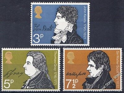 GB 1971 Literary Anniversaries SG884-6 Complete Set Unmounted Mint