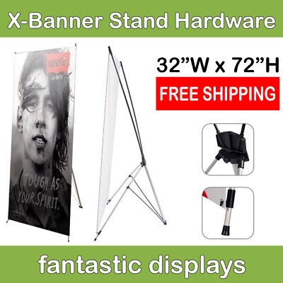 32x72 X-Shaped Banner Stand Frame for Trade Show Booth Banners