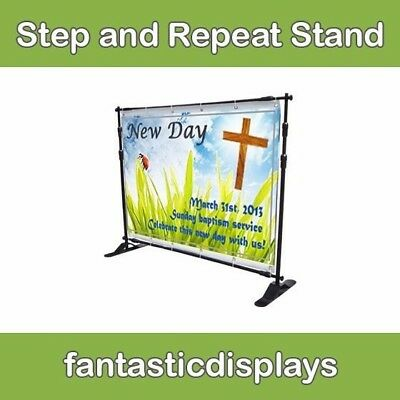 8x8 Step And Repeat Banner Frame for Large Backdrops or Signs