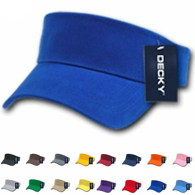 1 Dozen Blank Decky Golf Sports Sun Summer Visor Visors Cotton Wholesale Bulk