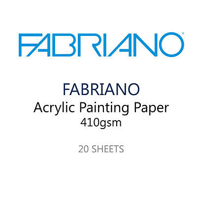 Fabriano Acrylic Painting Artist Paper - Pack of 20 400 GSM Sheets - 35 x 25 cm