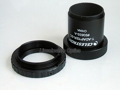 Celestron SCT telescope adapter with t-ring for Sony Alpha / Minolta Maxx SLR