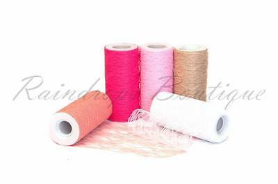 "Tutu Tulle rolls LACE  6"" wide x 10 metres spool netting fabric"