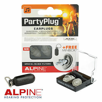 ALPINE PARTYPLUG Music Earplugs Acoustic Filter NRR19dB Party Plug - FREE UK P&P
